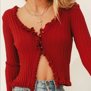 NWT Verge Girl Sunset Cocktails cardigan top